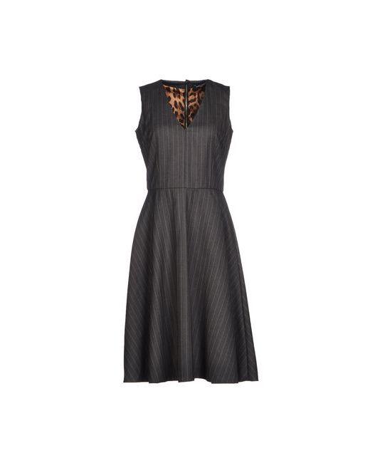 Dolce & Gabbana | Женское Серое Платье До Колена