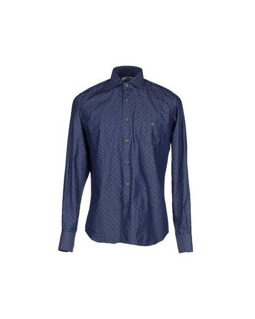 Mitchumm Industries | Мужская Синяя Джинсовая Рубашка