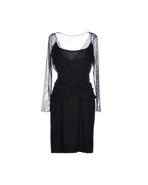 X'S Milano   Женское Чёрное Платье До Колена