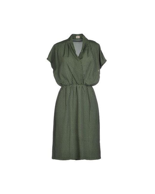 Siyu   Женское Зелёное Короткое Платье
