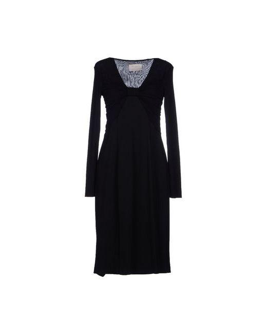 Nina | Женское Чёрное Платье До Колена