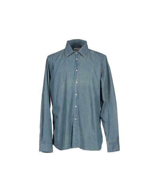 Bevilacqua | Мужская Синяя Джинсовая Рубашка