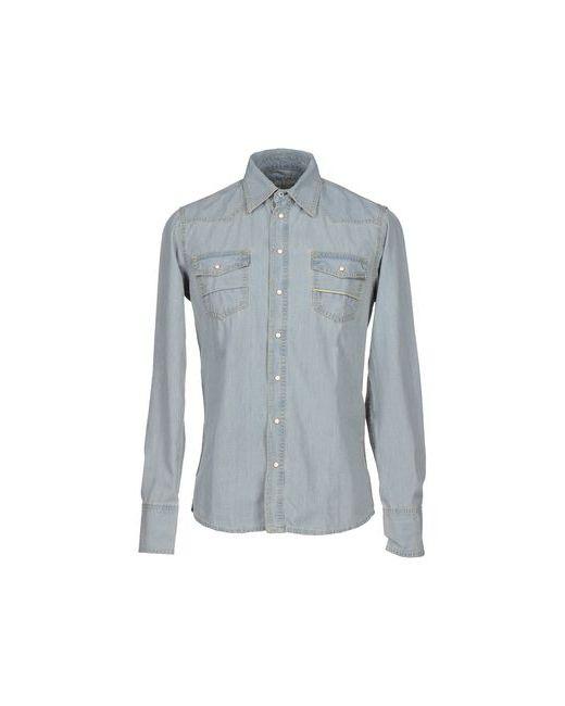 Care Label | Мужская Синяя Джинсовая Рубашка