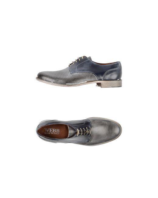 Webb | Мужская Серая Обувь На Шнурках