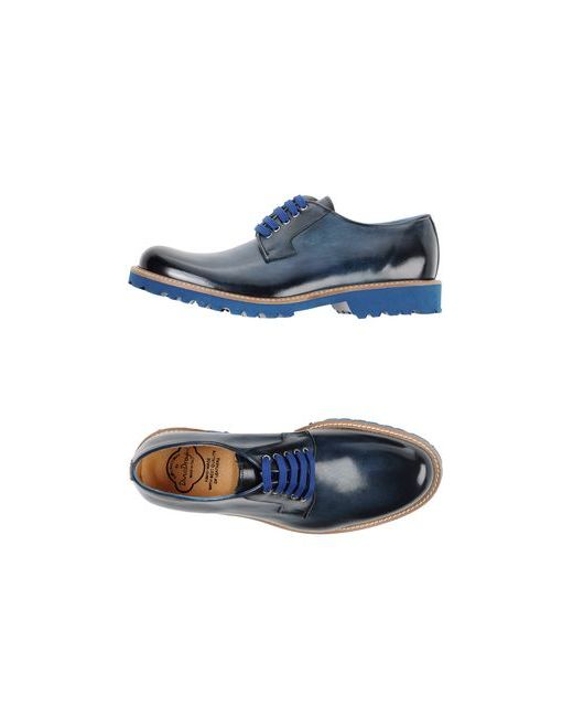 Dino Draghi | Мужская Синяя Обувь На Шнурках