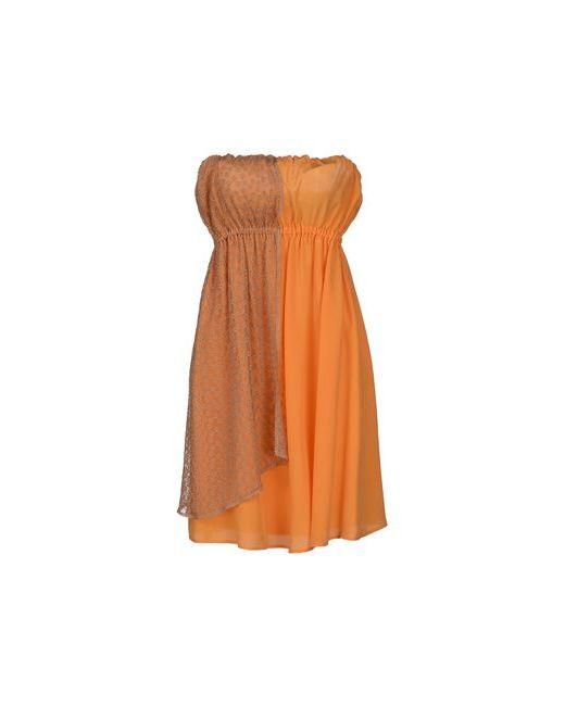 Alysi | Женское Абрикосовое Короткое Платье
