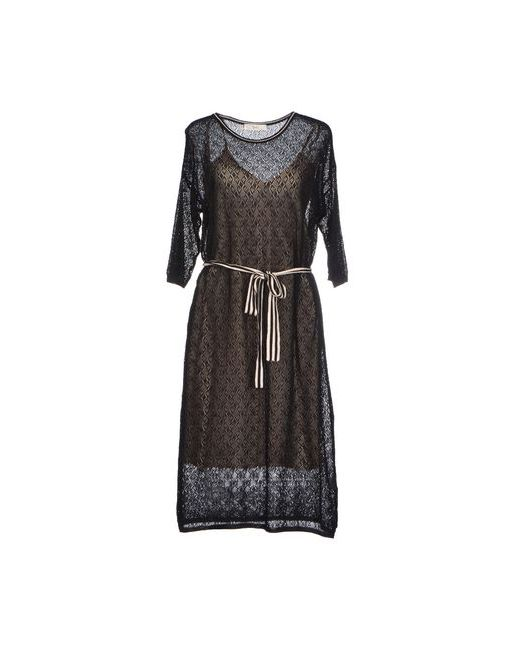 Suoli | Женское Чёрное Платье До Колена