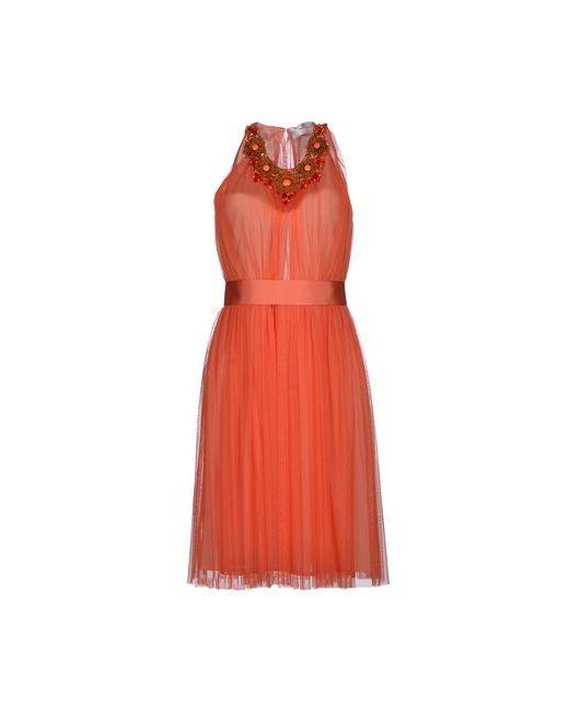 ELISABETTA FRANCHI | Женское Коралловое Платье До Колена