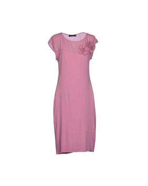 Twin-Set Simona Barbieri | Женское Розовое Платье До Колена