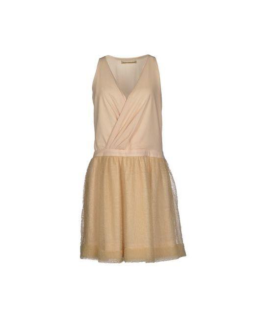 Balenciaga | Женское Слоновая Костящее Короткое Платье