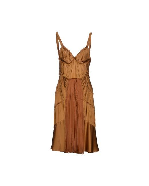 Alberta Ferretti | Женское Коричневое Платье До Колена