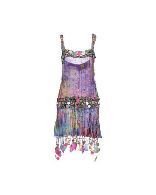 Jenny Packham   Женское Фиолетовое Короткое Платье
