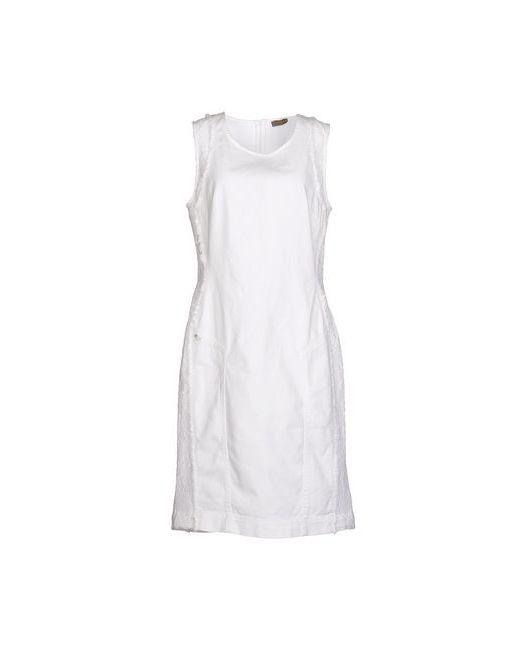 Marani Jeans | Женское Белое Платье До Колена
