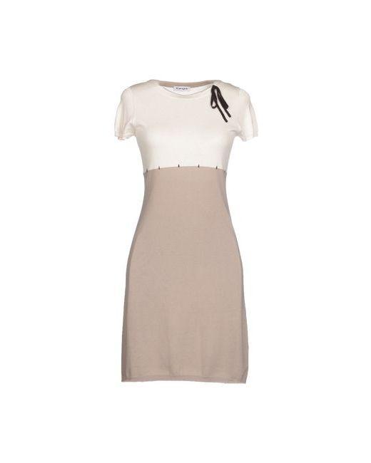 Kangra Cashmere | Женское Слоновая Костящее Короткое Платье