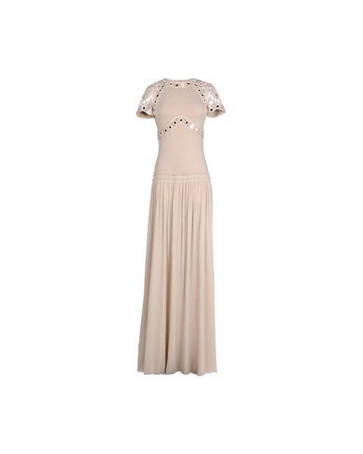 Roberto Cavalli | Женское Песочное Длинное Платье