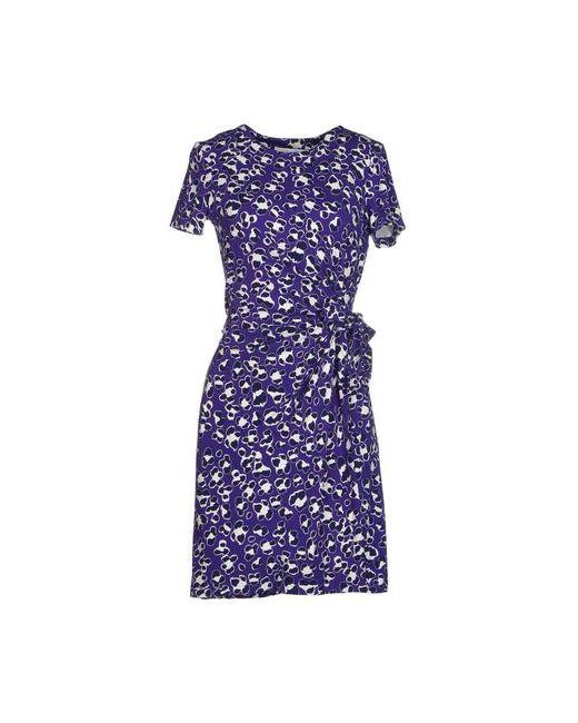 Diane Von Furstenberg   Женское Фиолетовое Короткое Платье