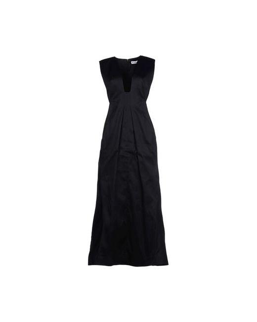 Jil Sander | Женское Чёрное Длинное Платье