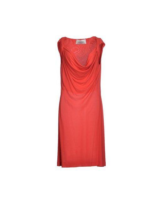 Valentino | Женское Красное Платье До Колена