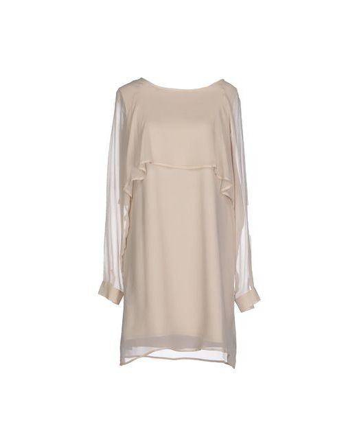SOALLURE | Женское Бежевое Короткое Платье