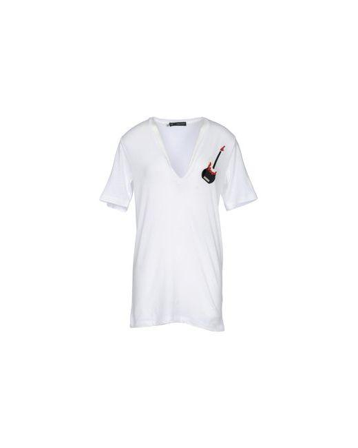 Dsquared2   Женская Белая Футболка С Короткими Рукавами