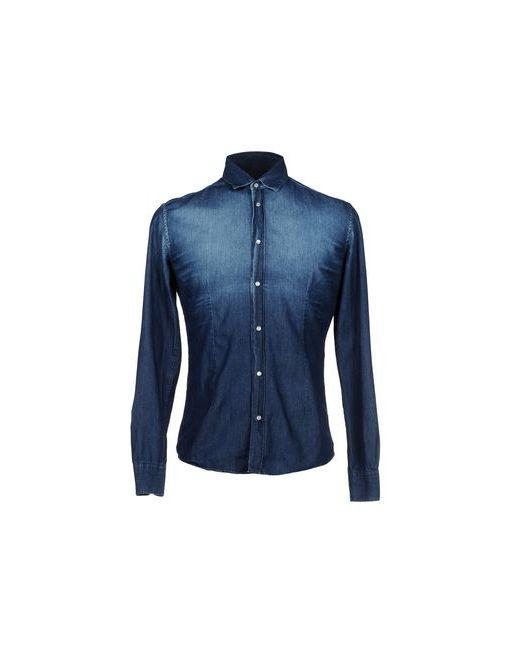 Daniele Alessandrini | Мужская Синяя Джинсовая Рубашка