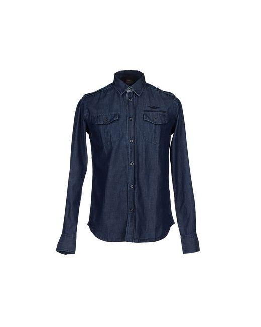 Aeronautica Militare | Мужская Синяя Джинсовая Рубашка