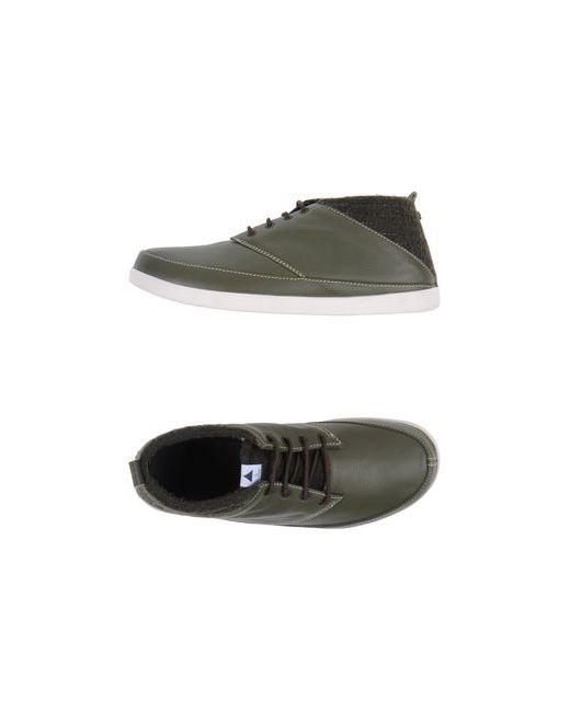 Volta   Мужская Зелёная Обувь На Шнурках