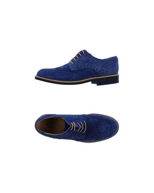 JIM MORRIS | Мужская Синяя Обувь На Шнурках