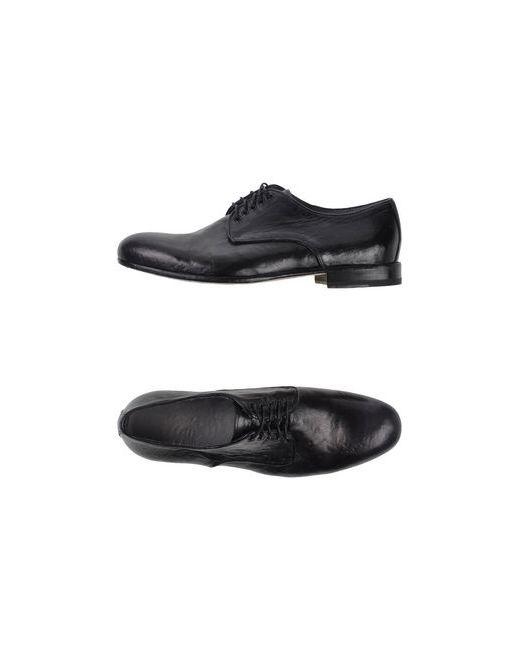 Alexander Hotto   Мужская Чёрная Обувь На Шнурках