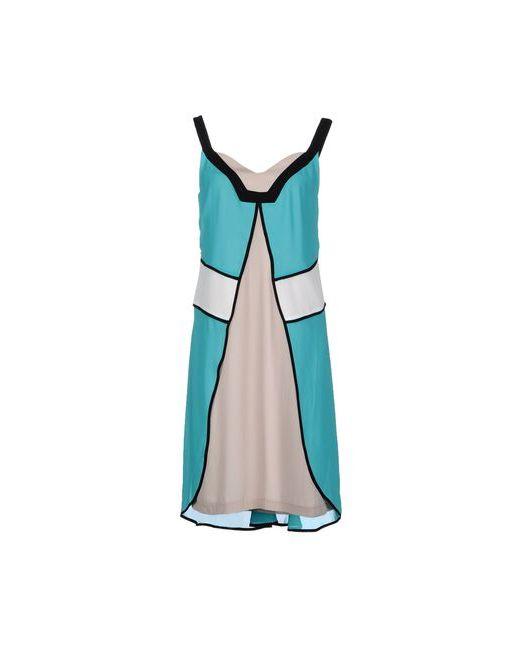 Angelo Marani | Женское Бирюзовое Платье До Колена