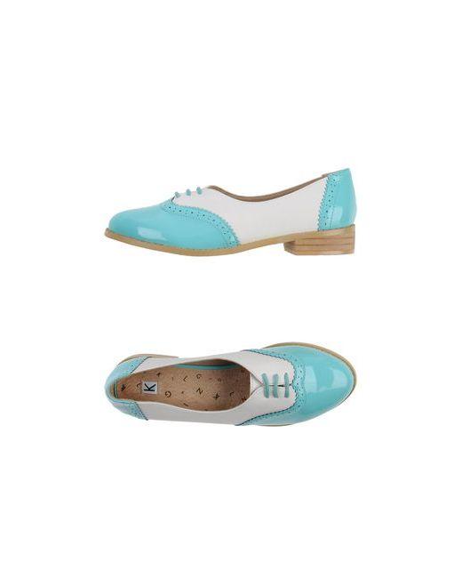 KLING | Женская Бирюзовая Обувь На Шнурках