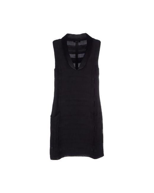 Tonello | Женское Чёрное Короткое Платье