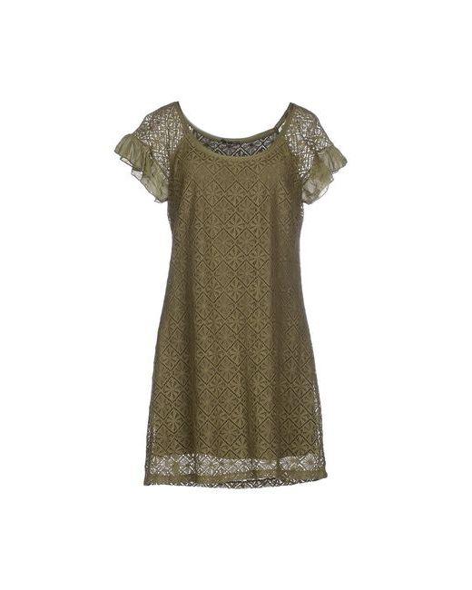 P.B. Collection | Женское Зелёное Короткое Платье