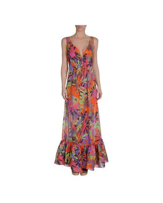 Fisico-Beach Couture   Женское Оранжевое Пляжное Платье
