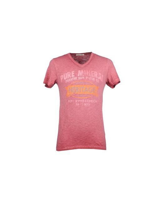 Pepe Jeans London | Мужская Розовая Футболка