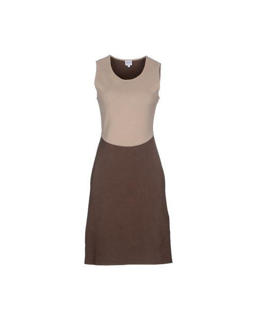Armani Collezioni | Женское Бежевое Платье До Колена