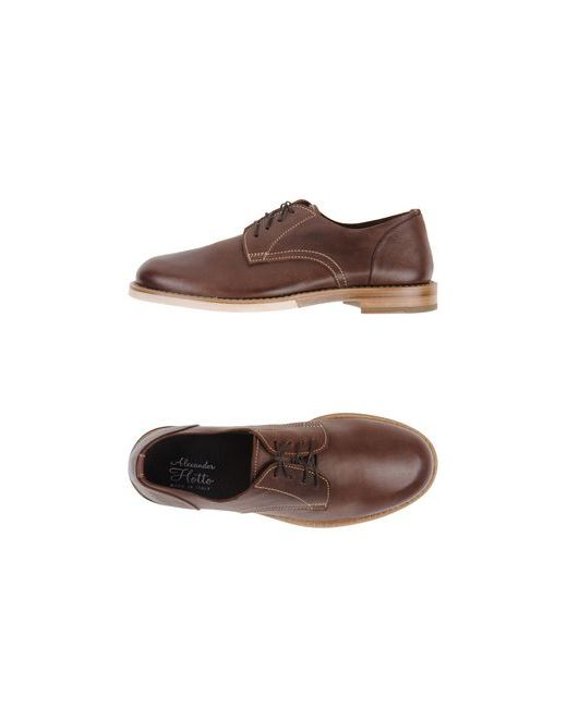Alexander Hotto | Мужская Какао Обувь На Шнурках