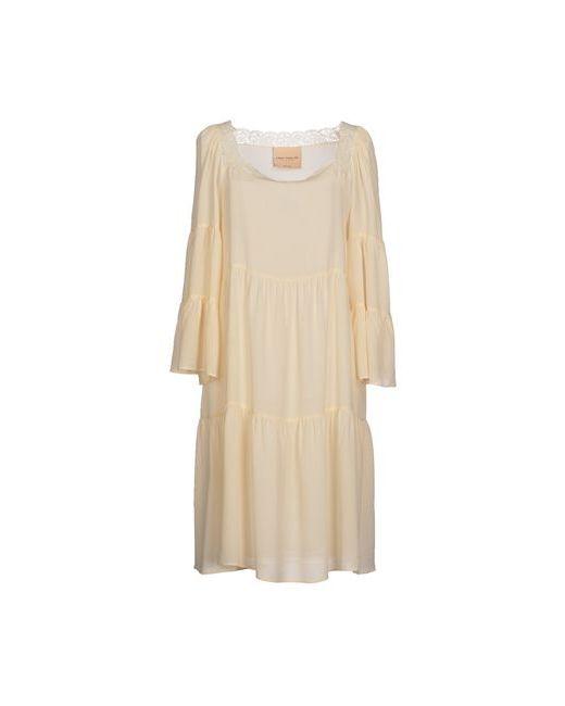 ERIKA CAVALLINI SEMICOUTURE | Женское Слоновая Костящее Платье До Колена