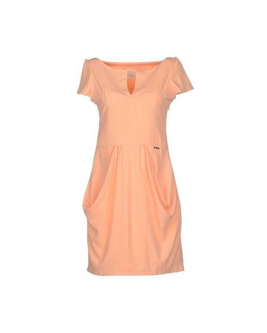 Maison Espin   Женское Абрикосовое Короткое Платье