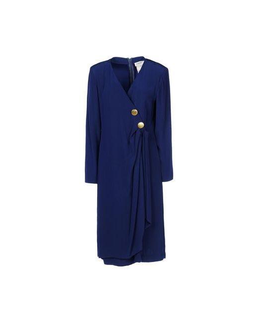 Saint Laurent | Женское Синее Платье До Колена