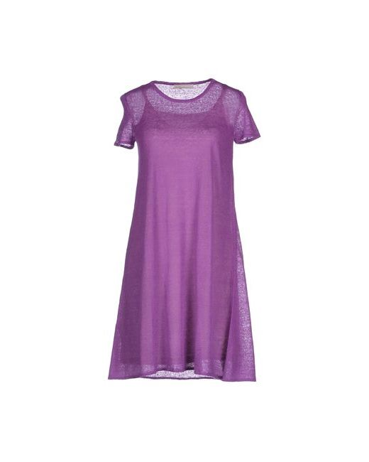 Stefanel | Женское Розовато-Лиловое Короткое Платье