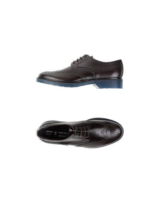 Antica Cuoieria   Мужская Коричневая Обувь На Шнурках