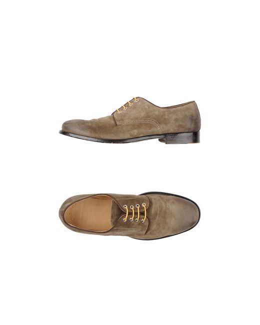 Doucal's | Мужская Зелёная Обувь На Шнурках
