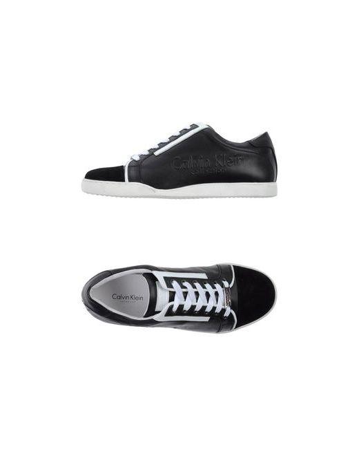 Calvin Klein Collection   Мужские Чёрные Низкие Кеды И Кроссовки