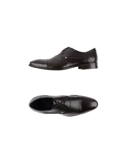Rochas | Мужская Чёрная Обувь На Шнурках