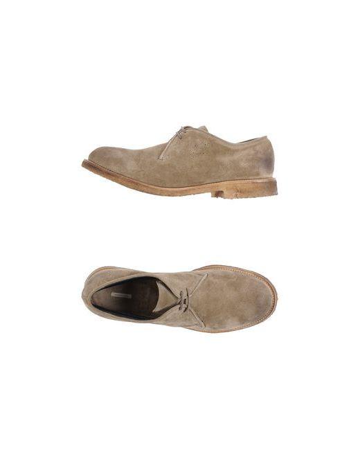 Massimo Alba | Мужская Хаки Обувь На Шнурках