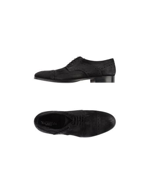 Thompson   Мужская Чёрная Обувь На Шнурках