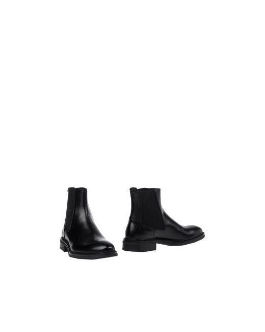 Thompson   Мужские Чёрные Полусапоги И Высокие Ботинки