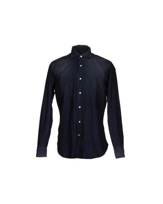 TRUZZI   Мужская Синяя Джинсовая Рубашка
