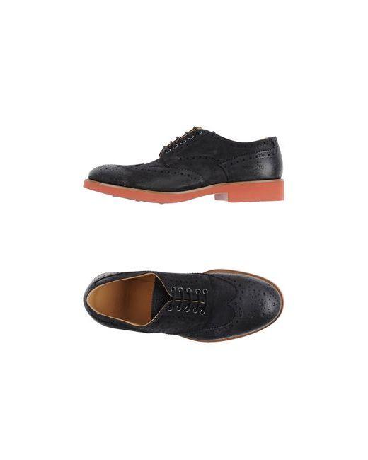 Doucal's | Мужская Синяя Обувь На Шнурках